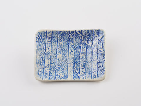"Small 4"" x 3"" Soap Dish - Abstract Design 17034"