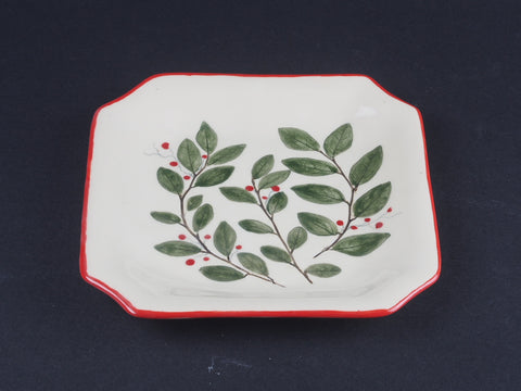 "7"" x 7"" Square Leaf Dish 17001"