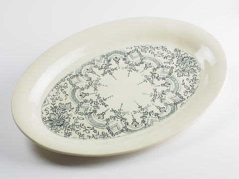 "14"" x 10"" Oval Lace Platter 4207"