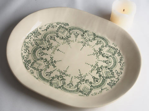 10x9 Oval Lace Platter 4069