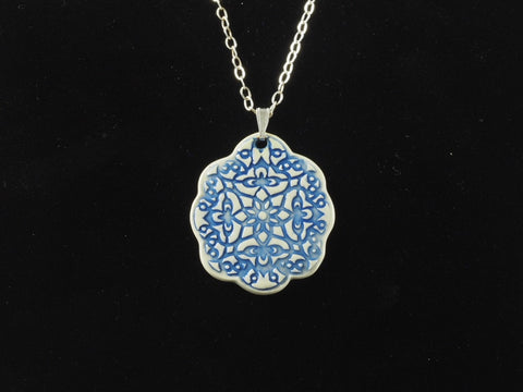 "2"" Medallion Pendant Necklace J1041"