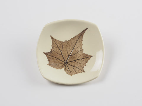 "4"" Square Leaf Dish 4435"