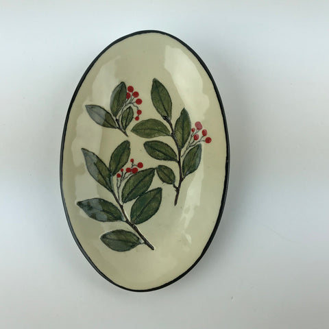 Small Oval Leaf Dish 17070