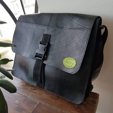 Revved Up Laptop Bag with Buckle Closure