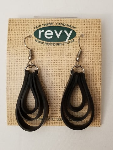 Las Tinecas Rubber Loop Earrings