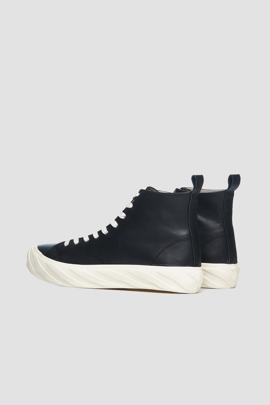 AGE - Hi-Top Leather Sneakers (black/white)