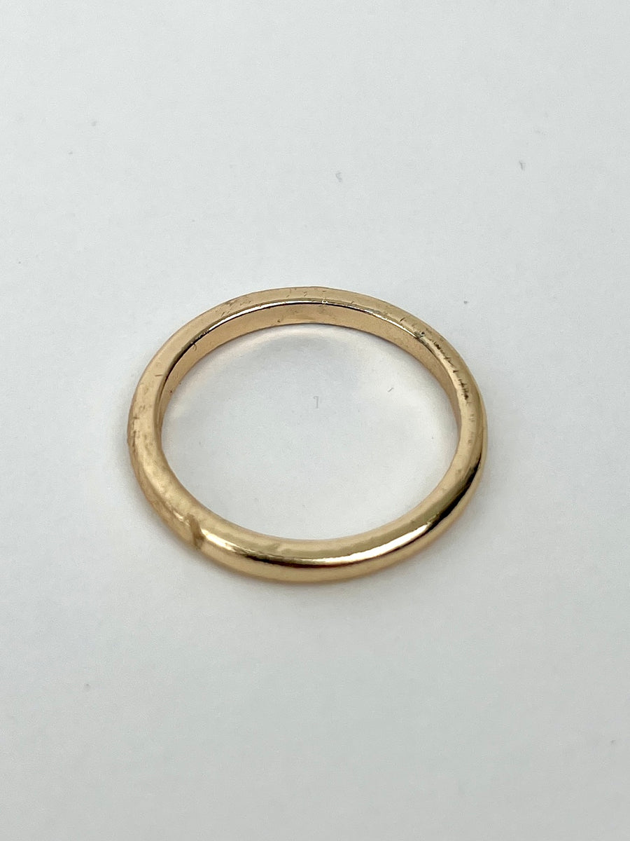 Distressed Gold Ring