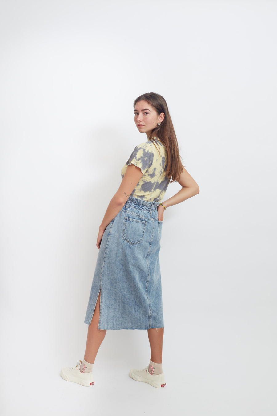 Acid Wash 80's Style Pencil Skirt