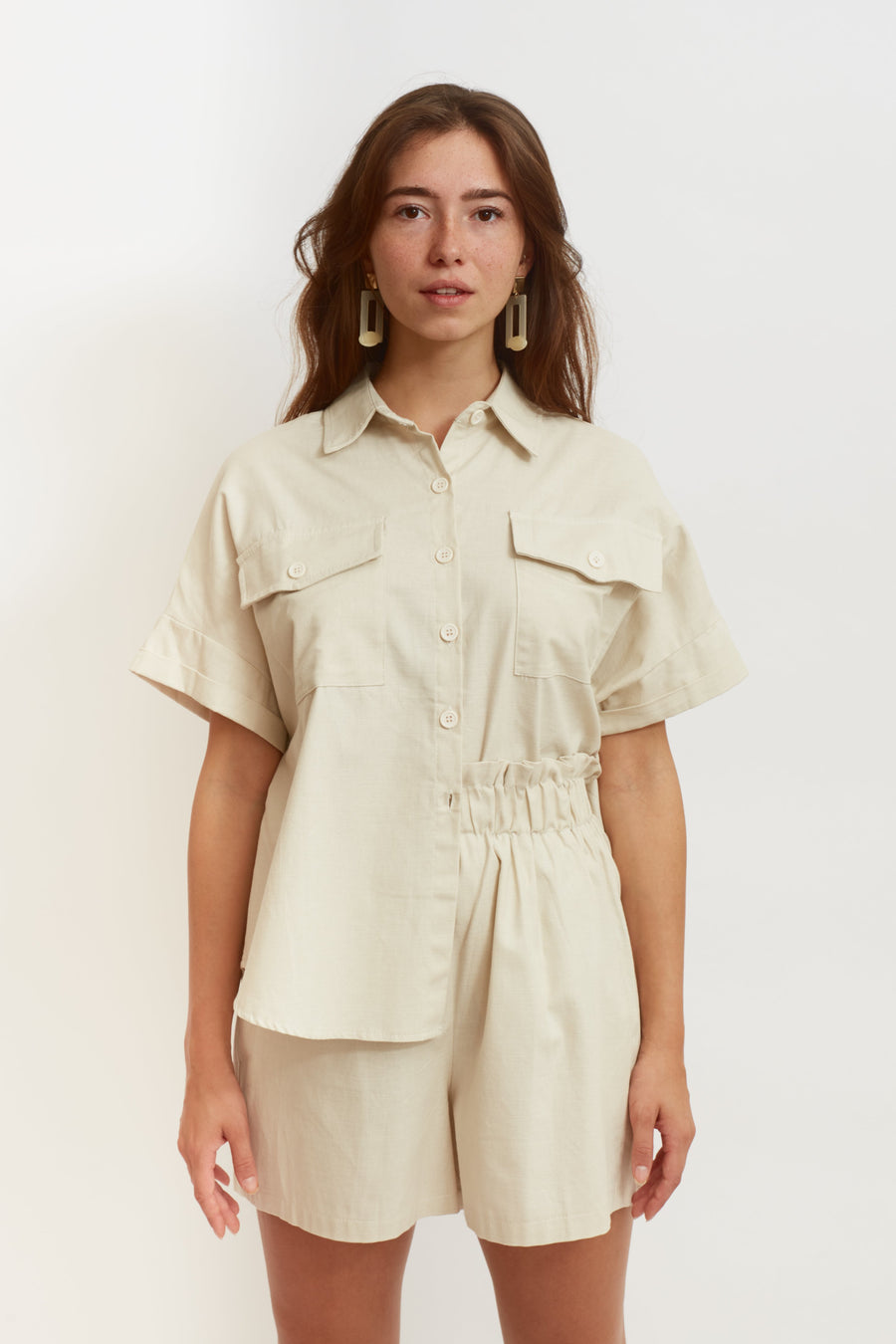 Cotton Holiday Shirt (cream)