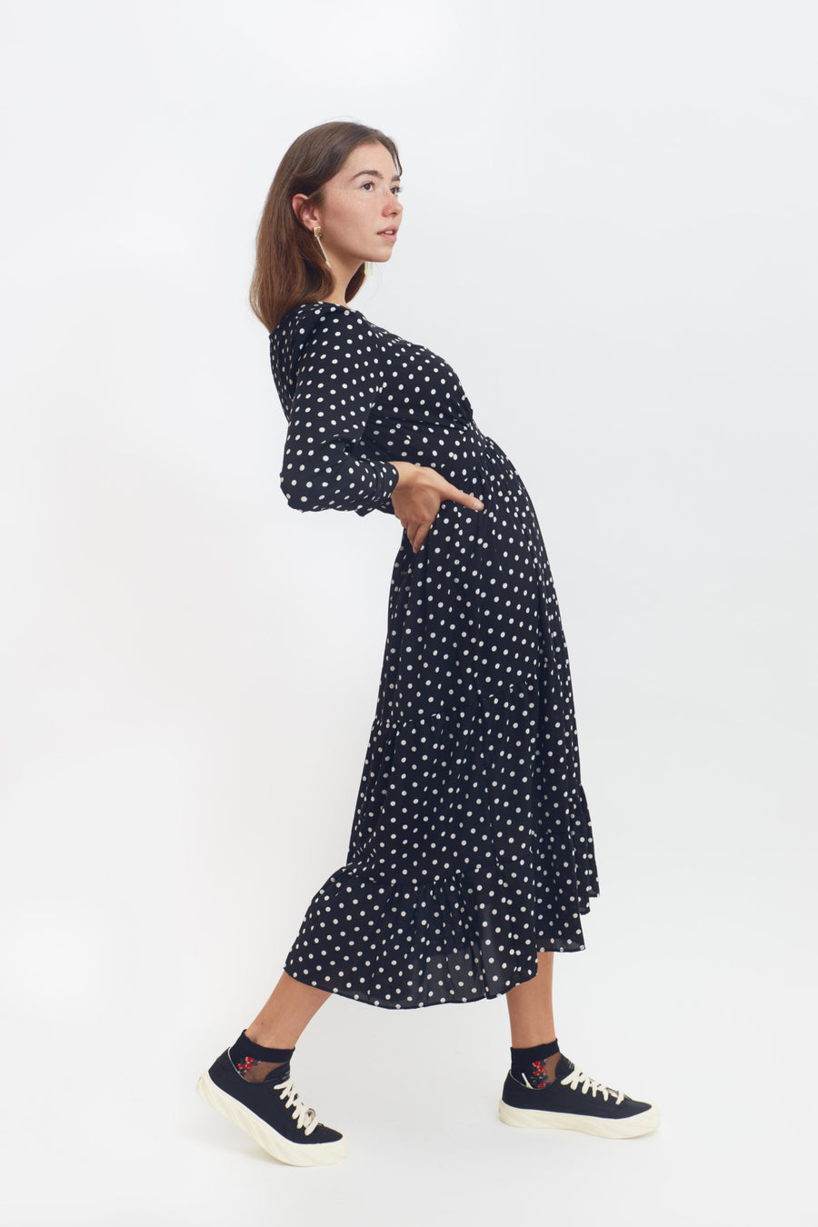 Day to Evening Polka Dot Dress