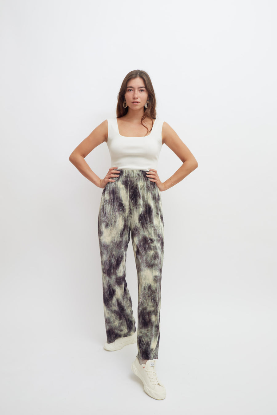 Psychedelic Pleat Trouser