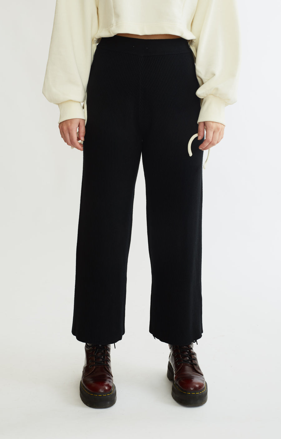 Ribbed Knit Trouser