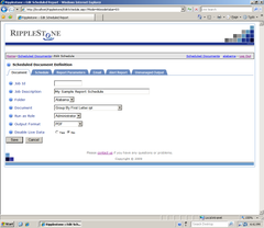 Ripplestone Web Portal and Scheduler for Crystal Reports