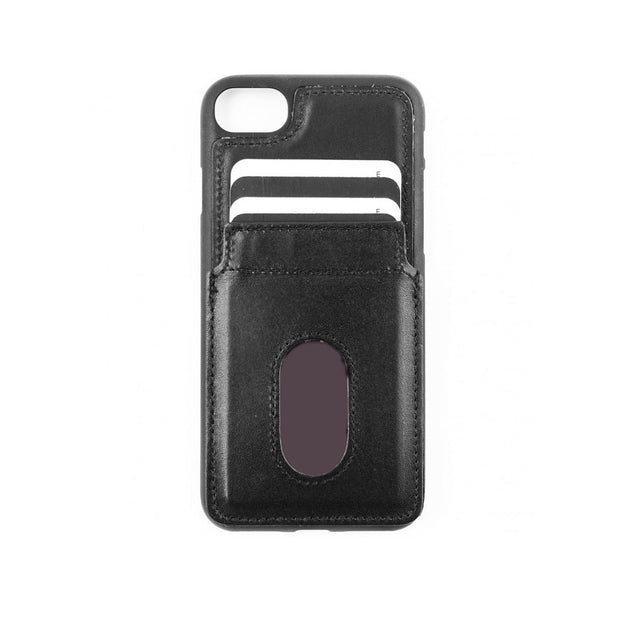 iPhone 7 / 8 Card Holder Case - Black