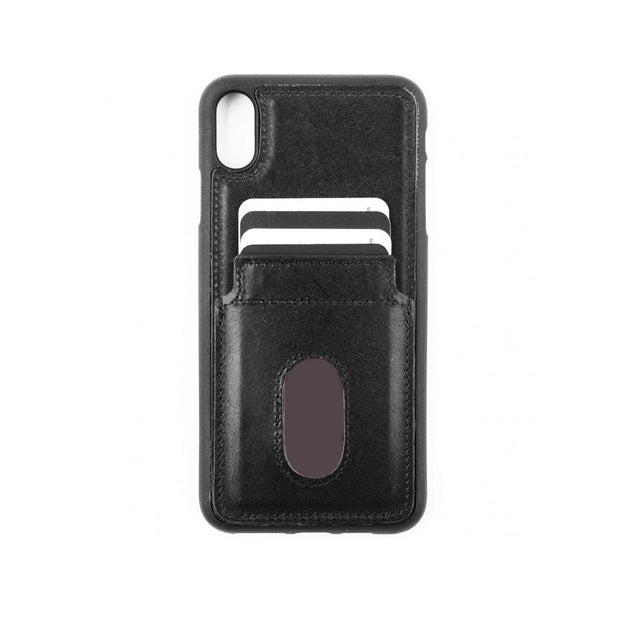 iPhone Xs Max Card Holder Case - Black