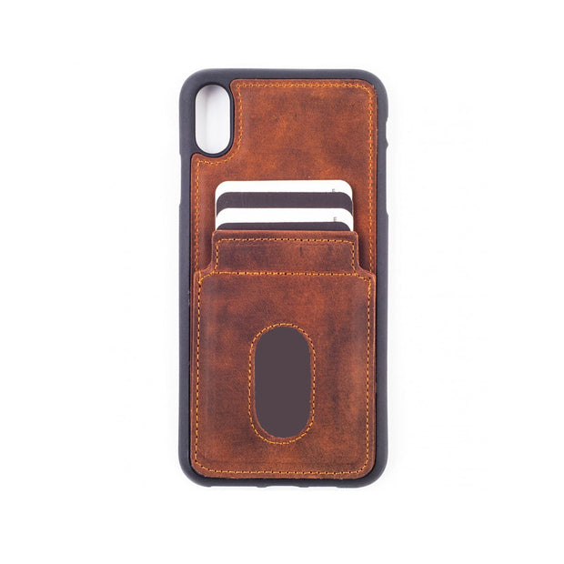 iPhone Xs Max Card Holder Case - Brown