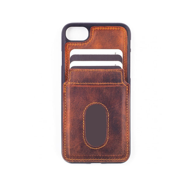 iPhone 7 / 8 Card Holder Case - Brown