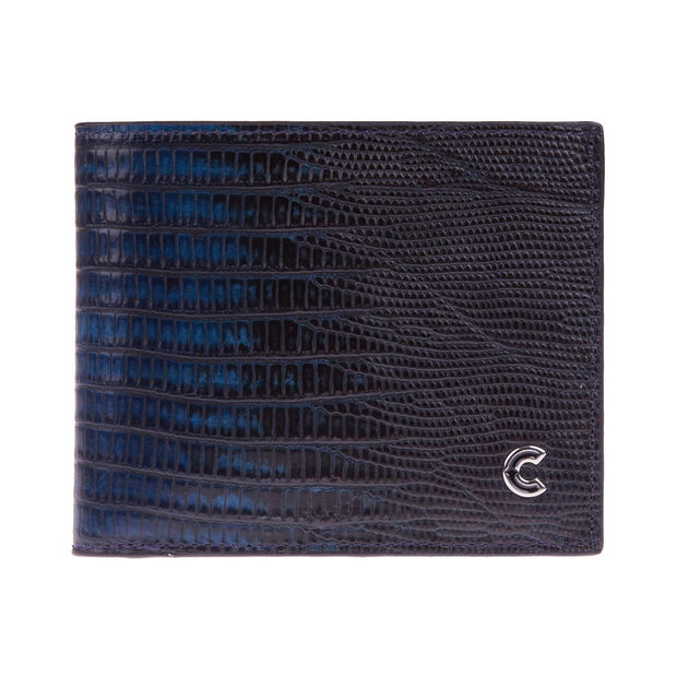 Bifold Wallet Dark Blue Lizard