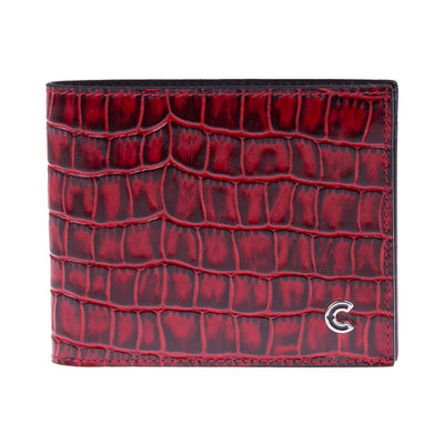Bifold Wallet Red Croco