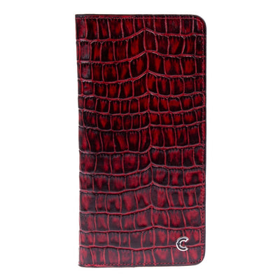 Zagrose Long Wallet Red Croco