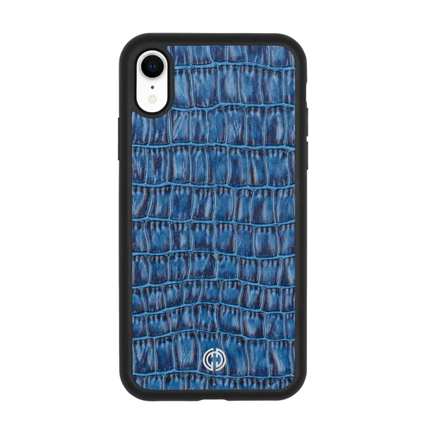 iPhone XR Case Blue Croco