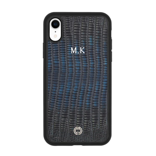 iPhone XR Case Dark Blue Lizard