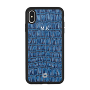 iPhone XS Max Case Blue Croco