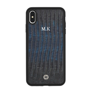 iPhone XS Max Case Dark Blue Lizard