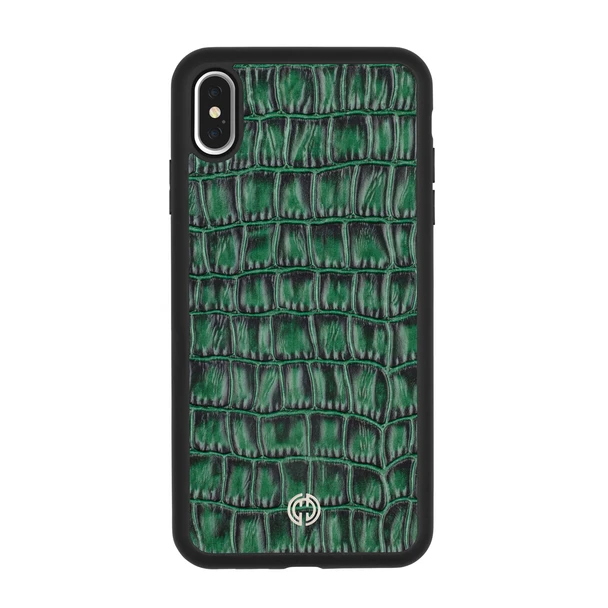iPhone XS Max Case Green Croco