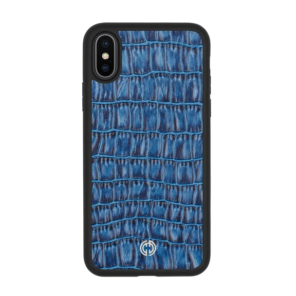 iPhone X / XS Case Blue Croco