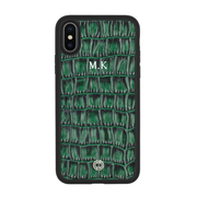 iPhone X / XS Case Green Croco