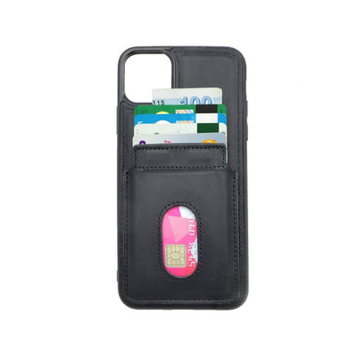 iPhone 11 Pro Max Card Holder Case - Black