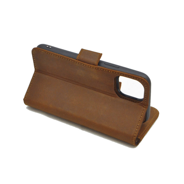 iPhone 11 Pro Magnetic Wallet Case 2 in 1 Brown
