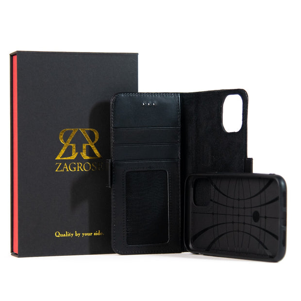 iPhone 11 Pro Max Magnetic Wallet Case 2 in 1 Black