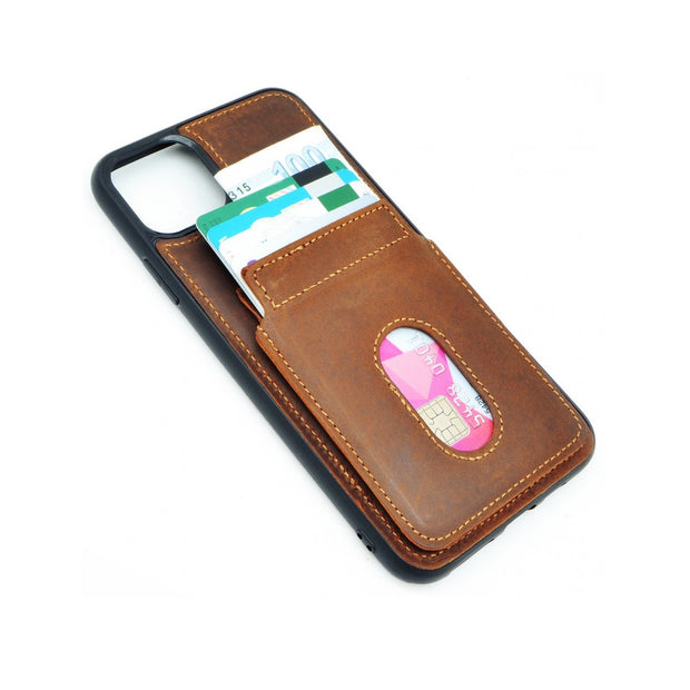 iPhone 11 Pro Card Holder Case - Brown