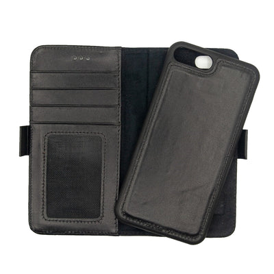 iPhone 7 / 8 Plus Magnetic Wallet Case 2 in 1 Black