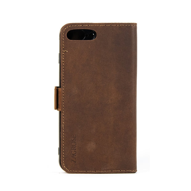 iPhone 7 / 8 Plus Magnetic Wallet Case 2 in 1 Brown