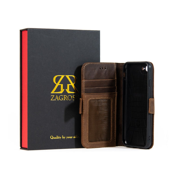 iPhone Xs Max Magnetic Wallet Case 2 in 1 Brown