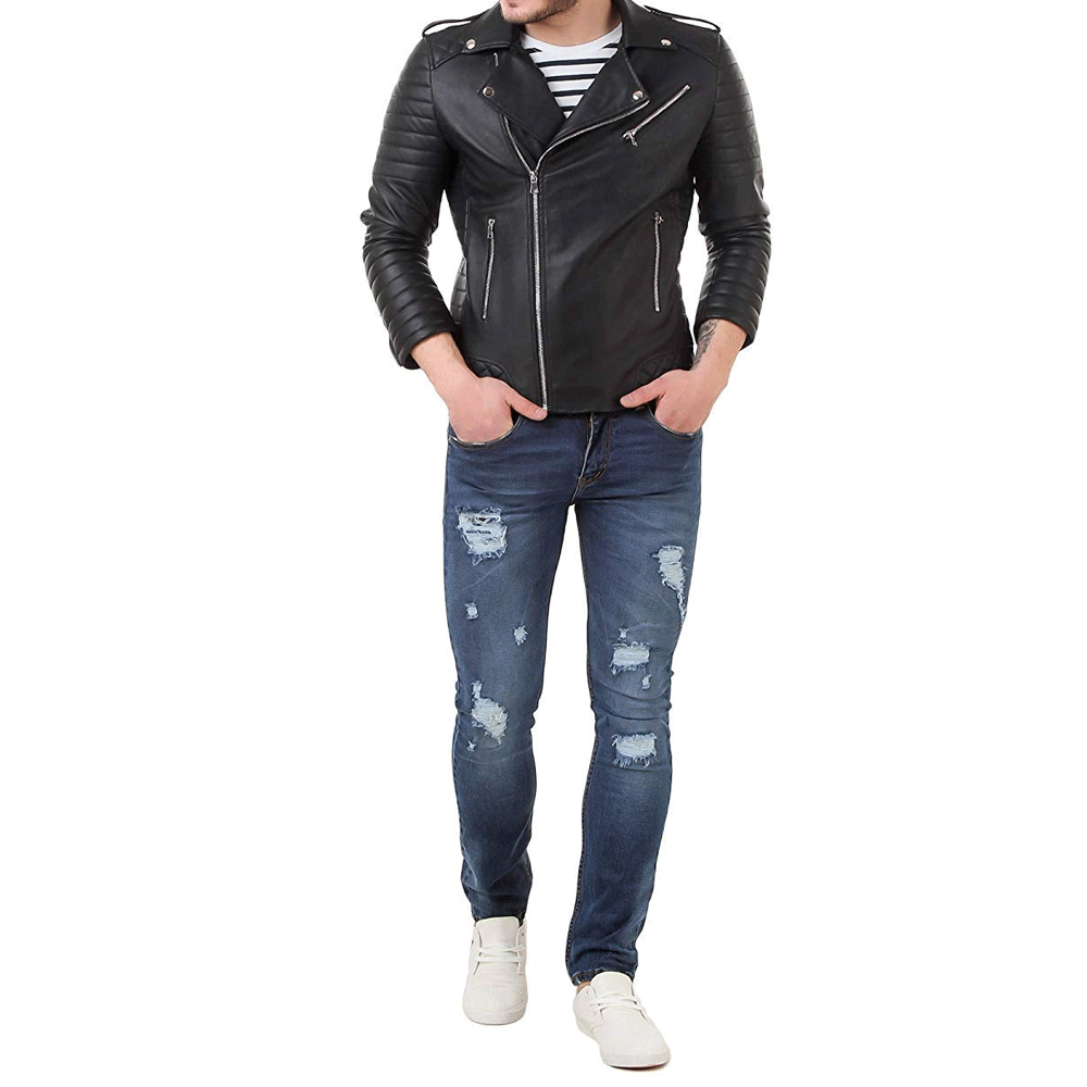 Leather Retail® Faux Leather Biker Jacket for Roadies - Style & Youth
