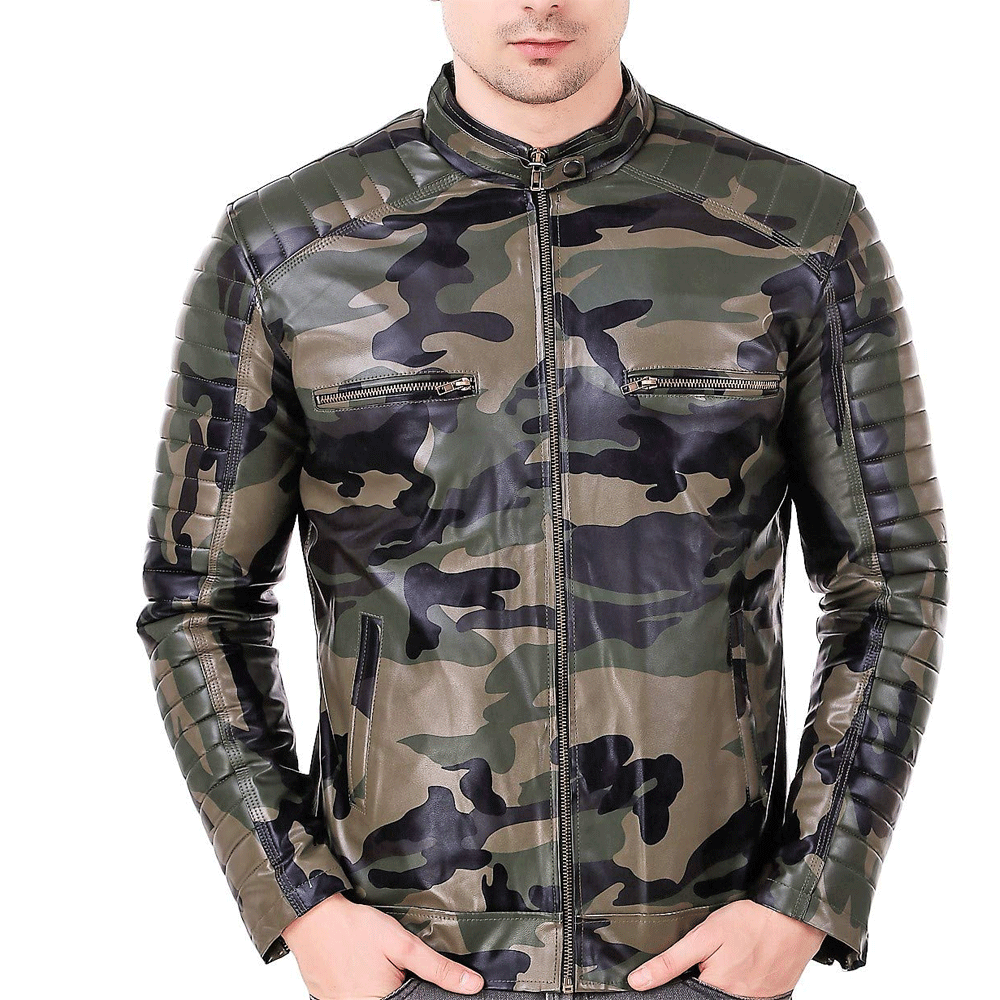 Leather Retail® Army Design Faux Leather Jacket for Man's - Style & Youth