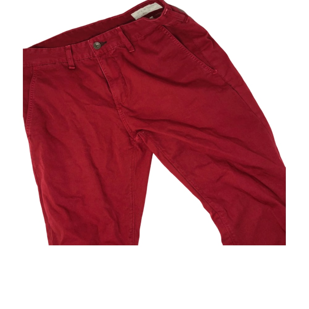 Men Red Slim Fit Casual Wear Chinos - Style & Youth