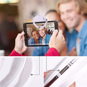 Selfie LED Ring Flash Telephone Portable
