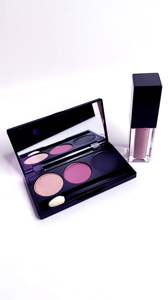 Cashmere 3 Shade Eye Shadow Palette and Cream Lipstick