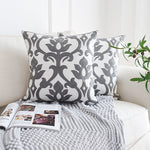 Nordic Geometric Embroidery Cushion Covers