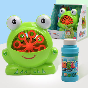 Cute Frog Automatic Bubble Machine