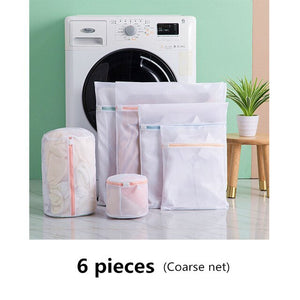 1 Set Zipper Mesh Laundry Bag
