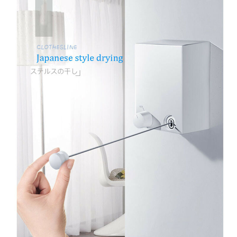 Wall Hanging Retractable Laundry Clothesline - simplychamp