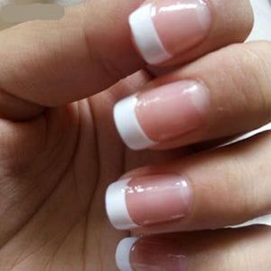 White French False Nails
