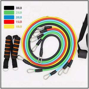 Exercise Resistance Bands Fitness Elastic Tube Kit (Complete Set)