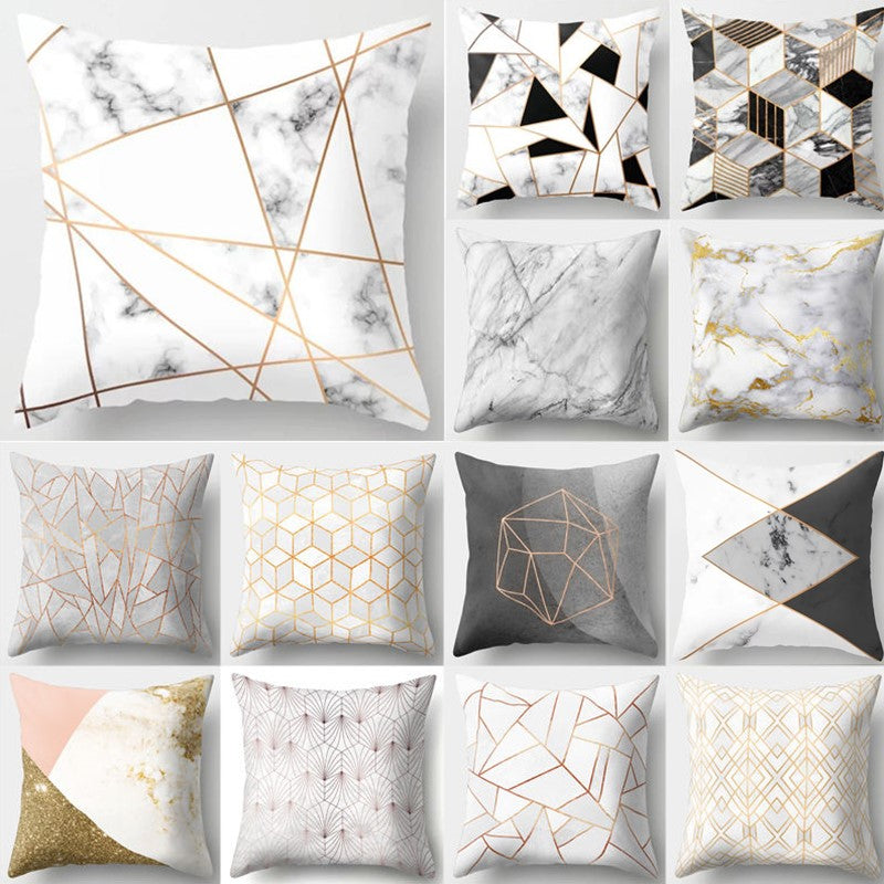 Brief Marble Geometric Sofa Decorative Cushion Cover